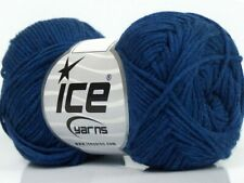 Navy Blue Cotton Bamboo Yarn Ice #41447 Baby / Sport Weight 50 Gram 153 Yards