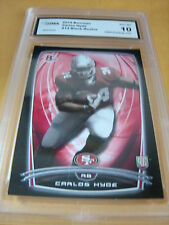 CARLOS HYDE 49ERS 2014 BOWMAN BLACK ROOKIE RC # 14 GRADED 10