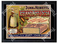 Historic Dunn & Hewett's Iceland Moss Cocoa, c.1890. Advertising Postcard