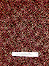 Kenta Fabric - Red Brown & Black Dot Blocks - Timeless Treasures YARD