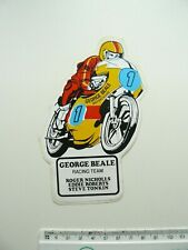 More details for george beale racing team vintage sticker - motorcycle - nicholls roberts tonkin