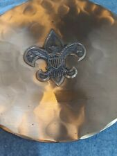 """Wendell August Forge Boy Scouts Of America 7"""" Bronze Plate, Boys out Logo"""