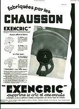 Publicité ancienne voiture automobile cric EXENCRIC 1931 issue de magazine