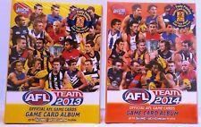 NEW Sealed AFL Team 2013 + 2014 Game Trading Card Albums Bonus Cards FREE Post