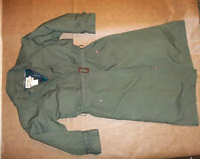 CABELA'S COAT LONG TRENCH JACKET WITH ZIP OUT GOOSE DOWN LINER GREEN WOMEN'S M