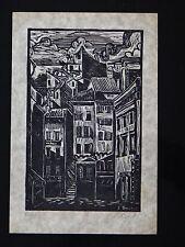 Estampe original E. BAUDET gravure 21cm x 14,5cm Signé