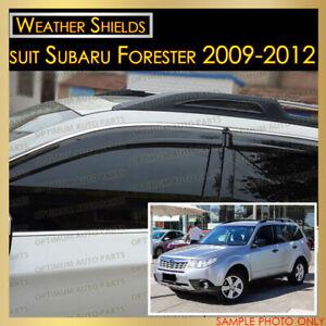 Weather shields Window Visor Weathershield Chrome suit Subaru Forester 2008-2012