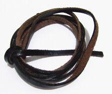 1mt di cordino  filo in Pelle cuoio 5mm colore nero per bracciale,collana bijoux