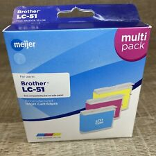 LC51 Cyan, Magenta, Yellow, Meijer Remanufactured Ink Cartridges for Brother