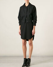 J.W. ANDERSON $1,275 black speckled wool crop jacket cropped coat 6-US/10-UK NEW