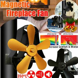 Kaminofen Ventilator Stromloser Ofenventilator Fan Gebläse Kaminrohr Magnetisch
