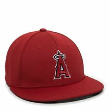 Los Angeles Angels Home Baseball Hat Flat Bill Stretch Fitted Cap