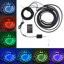 7 Color LED Strip Under Car Tube Underglow System Underbody Neon Light + Remote