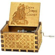 Sooharic Davy Jones Music Box- 18 Note Hand Crank Mechanism Wooden CraftsPirates