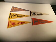 5 mini NFL Pennants Oakland Raiders, San Diego Chargers,Chiefs,Steelers,Dolphins