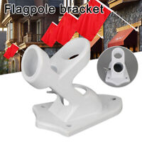 Flagpole Wall Mount Flag Pole Holder Base Aluminum Alloy Bracket