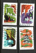 2018 Sc #5307-10 Forever 50c  Dragons 4 stamps Canceled