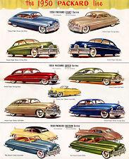 1950 Packard Full Model Line Up Showroom Wall  Ad  13 x 16 Giclee print