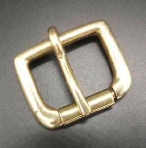 "Cast Silid Brass  [ 3/8"" - 2"" ] Single Roller Buckle Leathercraft  9 sizes"