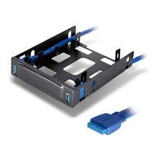 Dynamode 2 5 Inch Ssd/Hdu Bracket & 2 Port Usb3 0 Hub Combo For 3 5 Inch Bay