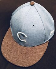 New Era Chicago Cubs 59FTY. Limited Edition Baby Blue W/ Ash Gray Bill. 7 3/8