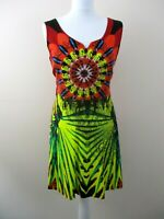 Joe Browns dress size 10 bright colours sleeveless hippie boho stretch unusual.