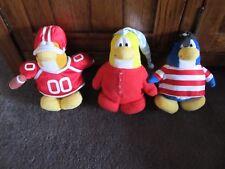 CLUB PENGUIN....3 soft toy penguins..pirate,footballer,sleepy ..Disney's CP toys