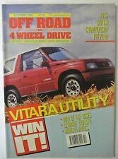 Off Road and 4 Wheel Driver magazine. October, 1989. Vol. 7. No 6. Vitara Util