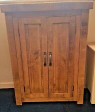 NEW SOLID WOOD RUSTIC CHUNKY WOODEN CUPBOARD , STORAGE CUPBOARD , MADE TO ORDER
