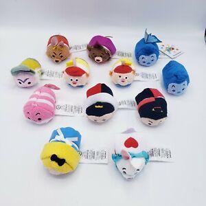 """Disney Store Original Tsum Tsum Alice In Wonderland Mini Plush Lot of 12 3.5"""""""