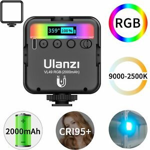 Ulanzi VL49 Mini RGB LED Video Light 2000mAh Vlog Fill Light Phone Camera