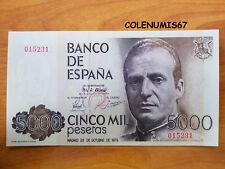 5000 PESETAS ESPAÑA SPAIN SPANIEN 1979 - NUMERO BAJO 015231 - SIN SERIE SC UNC