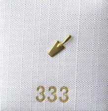 Singleohrstecker Ohrstecker Maurerkelle matt 333 Gold Herrenohrring NEU