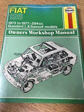 Haynes Workshop Manual. FIAT 126. 1973 to 1977. 594cc. . (BC2)