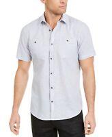INC Mens Shirt London Sky Gray Size XL Button Down Pocket-Front Ricky $49 #203