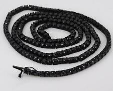 Black Out Stainless Steel With Black Cubic Zirconia Tennis Necklace NM1008RD434