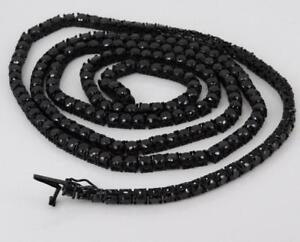 New Jewelry Black Out Stainless Steel Black Cubic Zirconia Necklace NM1008RD434