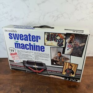 Incredible Sweater Knitting Machine Never Used In Original Box COMPLETE