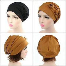 2 Pack Womens Chemo Hat Beanie Turban Headwear for Cancer Patients Khaki Black