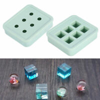 3D Ball & Cube Square Silicone Mold Resin Bead Making DIY Necklace Pendant Craft