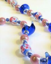 CG5036...HANDMADE LAMPWORK GLASS BEADED NECKLACE - FREE UK P&P