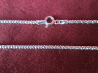 Sterling Silver Chain round diamond cut style chain necklace 18 inches 2mm