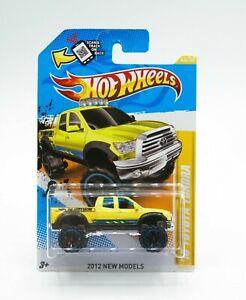 Hot Wheels 2012 New Models 10 Toyota Tundra Truck Yellow 1:64 New Free Shipping