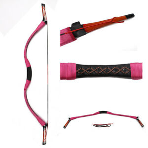 Traditional Recurve Longbow Hunting Handmade Archery Mongolian Horsebow 30-50lbs