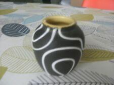 west german mid century jasba / ilkra ovoid vase 8cm high black yellow white