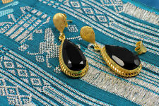 Onyx Handmade Brass Fashion Earrings