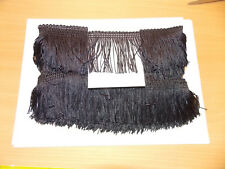 "1m 2.5"" 6cm drop Tassel Fringe / Fringing Trim lace trimming black"