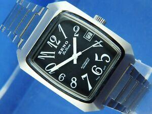 Zeno Automatic Watch Swiss 17 Jewel AS 2063 Watch NOS 1970S NEW Vintage