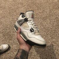 Nike Air Jordan Retro OG 4 'White Cement' 2016 Size 6y