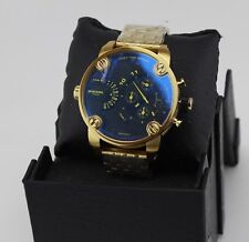 NEW AUTHENTIC DIESEL LITTLE DADDY GOLD BLACK IRIDESCENT MEN'S DZ7347 WATCH